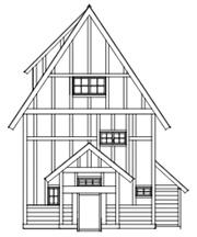 ハウス線画